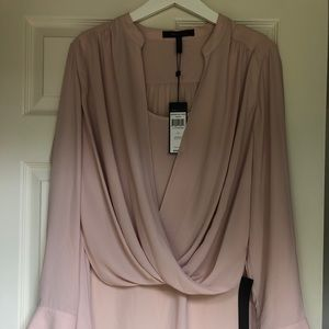 High-low Scoop Neck Blouse